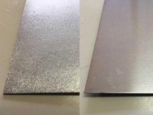 アルミ板へのブラスト下地処理例