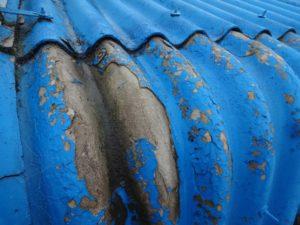 工場の波スレート屋根劣化