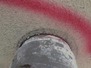 工場外壁雨漏れ箇所のシーリング補修