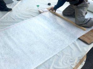 工場FRP床のガラスマット