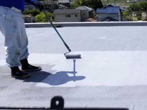 工場の陸屋根塗膜防水塗装