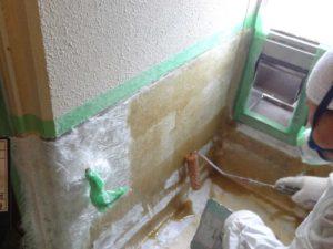 社員寮の浴室FRP防水塗装