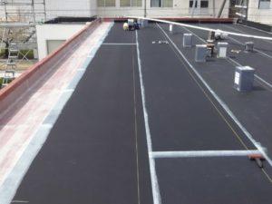 工場陸屋根ゴムシート防水修繕