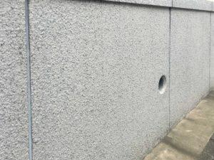 外構石目調吹き付け塗装