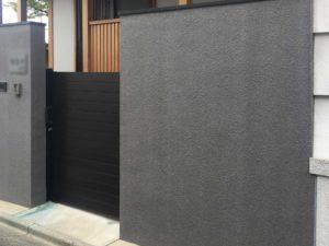 門塀石調塗装グレー