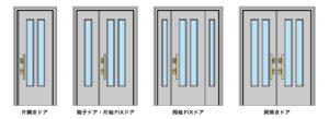 アルミ玄関ドアの種類
