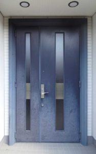アルミ玄関ドアの塗装前