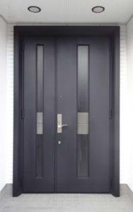 アルミ玄関ドアの塗装後