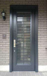 アルミ玄関ドア塗装例02