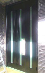アルミ玄関ドアの塗装前03