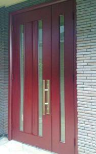 アルミ玄関ドアの塗装後03