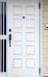 スチール玄関ドア塗装前