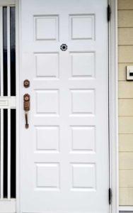 鉄製玄関ドア塗装後