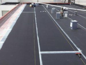 陸屋根シート防水施行中