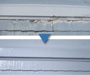 屋根塗装パテ補修