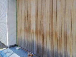 木製外壁塗装前