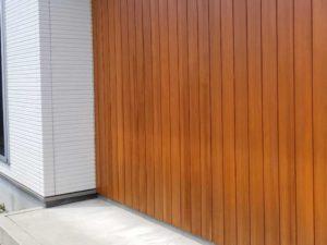木製外壁塗装後