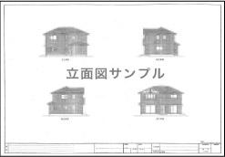 住宅立面図サンプル