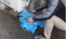 足場解体後の清掃