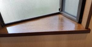 室内木製カウンター塗装後