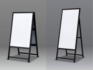 ブラックフレームのA型看板