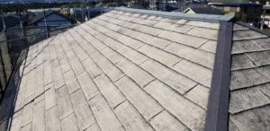 屋根塗装高圧洗浄後